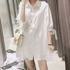 JOWI - Tie-Cuff A-Line Shirtdress