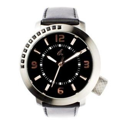 t. watch - Diamond Lens Glass Genuine Leather Strap Watch