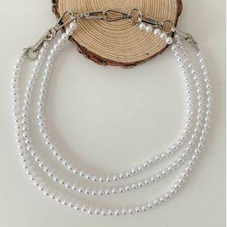 Lunashore - Faux Pearl Layered Waist Chain