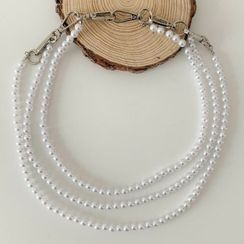 Lunashore - Faux Pearl Layered Waist Chain