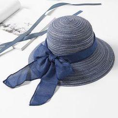 Parafae - 飾蝴蝶結船帽
