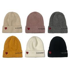 Heloi - Embroidered Knit Beanie