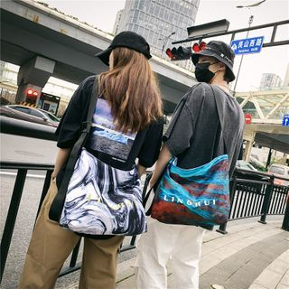 Carryme - Lettering Print Crossbody Bag