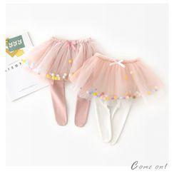 Cen2ury - Kids Insert Tights A-Line Mesh Skirt