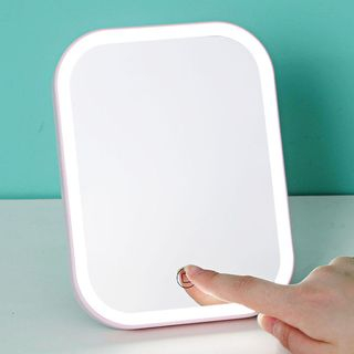 Popcorn - Rechargeable Foldable Desktop Mirror with LED Lamp