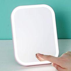 Popcorn - Miroir de bureau pliable rechargeable avec lampe à LED