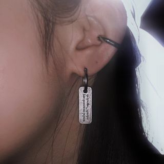 UNPACK - 印字碟状耳坠