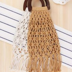 Kolso - Fringed Straw Hand Bag