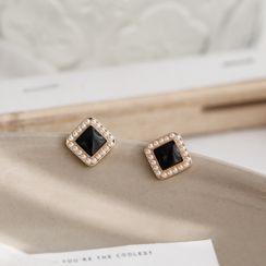 MOMENT OF LOVE - Square Faux Pearl Earring