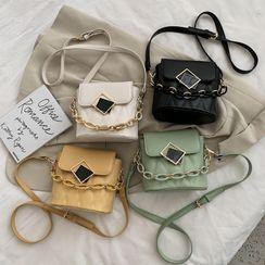 NewTown - Irregular Buckled Quilted Bucket Bag