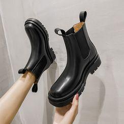 Fale - Faux Leather Short Boots