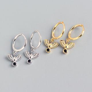Zundiao - Pigeon 925 Sterling Silver Drop Earring