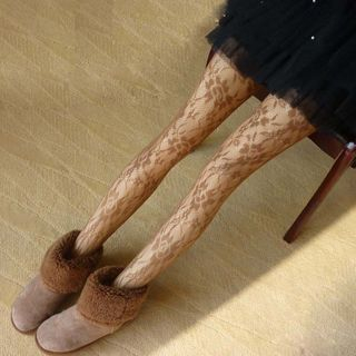 Flotide - Floral Fishnet Tights