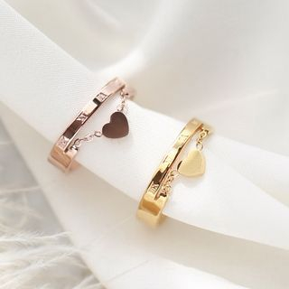 MOMENT OF LOVE - 18K Gold-Plated Heart Open Ring