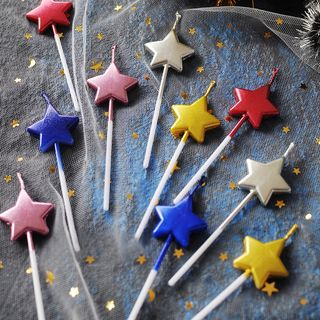 lulushino - Metallic Star Birthday Party Candle