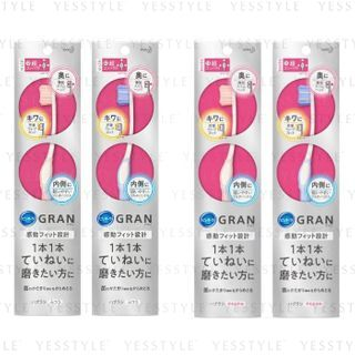 Kao - Pureora Gran Carefully Polished Ultra Compact Toothbrush - 2 Types