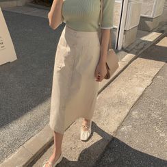 CHERRYKOKO - Button-Through Long Skirt