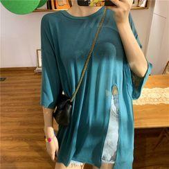 Moon City - Short-Sleeve Slit T-Shirt