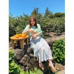 J-ANN - Floral Long Layered Skirt