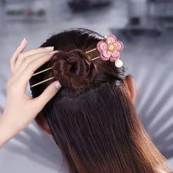 Gangnam - Faux Pearl Floral Hair Stick