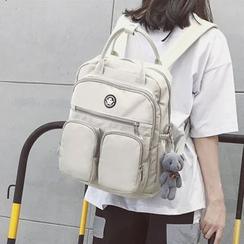 Hampa - 貼布方形牛津背包