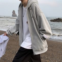 Soulcity - 印花寬鬆連帽夾克