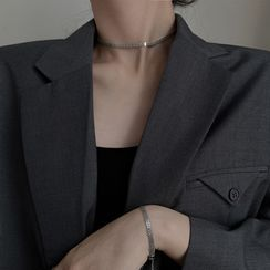 Metallique - 925 Sterling Silver Choker / Bracelet