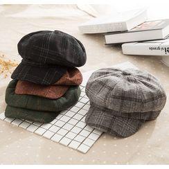 Hat Society - Plaid Newsboy Cap