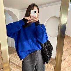 NIPONJJUYA(ニッポンチューヤ) - Drop-Shoulder Wool Blend Knit Top