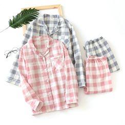 Dogini - Plaid Pajama Set