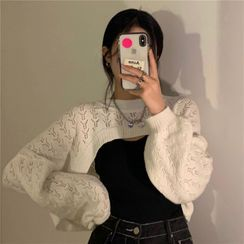 GOUB - Cutout Cropped Sweater / Knit Camisole Top