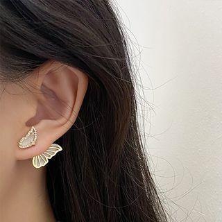 Show Mind - Rhinestone Butterfly Stud Earring