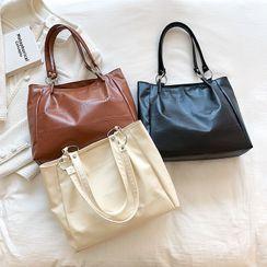mizandrus - Faux Leather Tote Bag