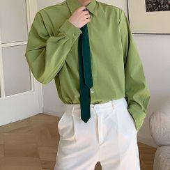 Bjorn - Long-Sleeve Plain Shirt
