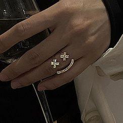 ACC Republic - 水鑽笑臉開口戒指