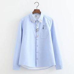 PANDAGO - 钮扣细节衬衫