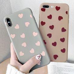 Mobby - Heart Print Mobile Case - iPhone XS Max / XS / XR / X / 8 / 8 Plus / 7 / 7 Plus / 6s / 6s Plus