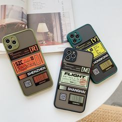 HAVK - Ticket Print Phone Case - iPhone 11 Pro Max / 11 Pro / 11 / XS Max / XS / XR / X / 8 / 8 Plus / 7 / 7 Plus / 6s / 6s Plus