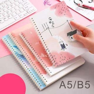 Minji - Set of 4: B5 / A5 Spring Notebook (various designs)