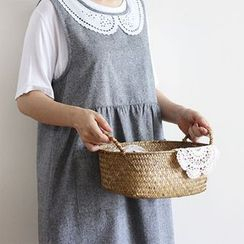 iswas - Lace-Collar Cotton Apron