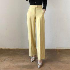 Seoul Fashion(ソウルファッション) - Straight-Cut Dress Pants