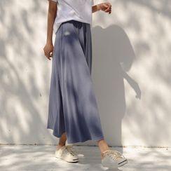 JUSTONE - Textured Maxi Flare Skirt