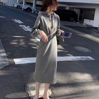 Apotheosis - Midi Shift Hoodie Dress