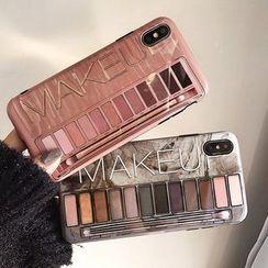 SIFFU - Cosmetic Print Mobile Case - iPhone XS Max / XS / XR / X / 8 / 8 Plus / 7 / 7 Plus / 6s / 6s Plus