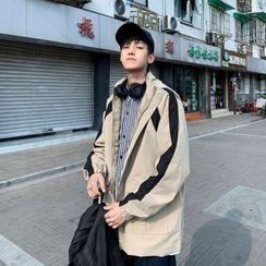 DuckleBeam - Hooded Paneled Zip Jacket