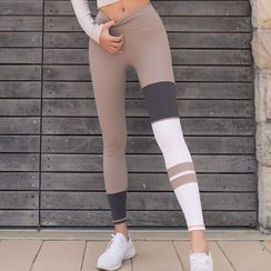 Feelme - Sport Color Block Yoga Pants