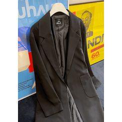 chuu - Notch-Lapel Wrap Coat with Sash