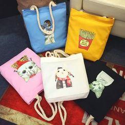 ANEMOI(アネモイ) - Printed Canvas Shopper Bag
