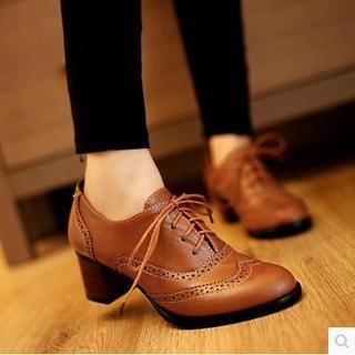Gizmal Boots - Brogue Oxford Pumps