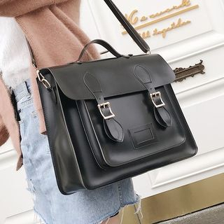 Fionne - Faux Leather Satchel Bag